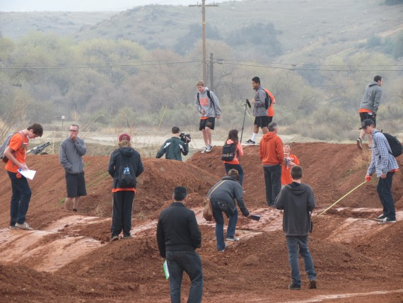 Students come together to design motocross track